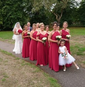 C Bridal party going into church