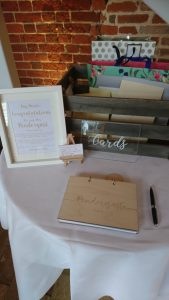 Card & Guest book table
