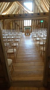 Tudor Barn ceremony room
