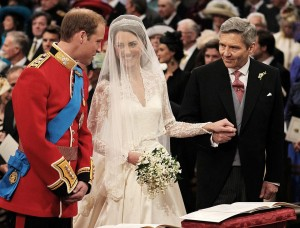Royal couple and father