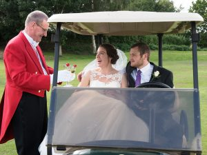 Drinks in the golf buggy